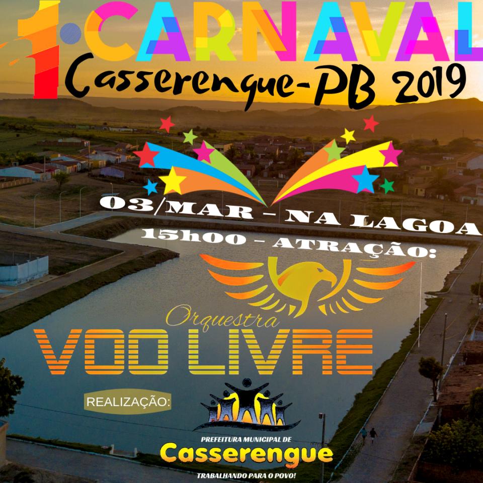 """Prefeitura vai realizar """"1º Carnaval de Casserengue"""" em 2019"""