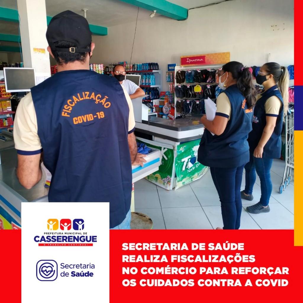 FISCALIZAÇÃO CONTRA A COVID-19 NOS COMÉRCIO MUNICIPAIS