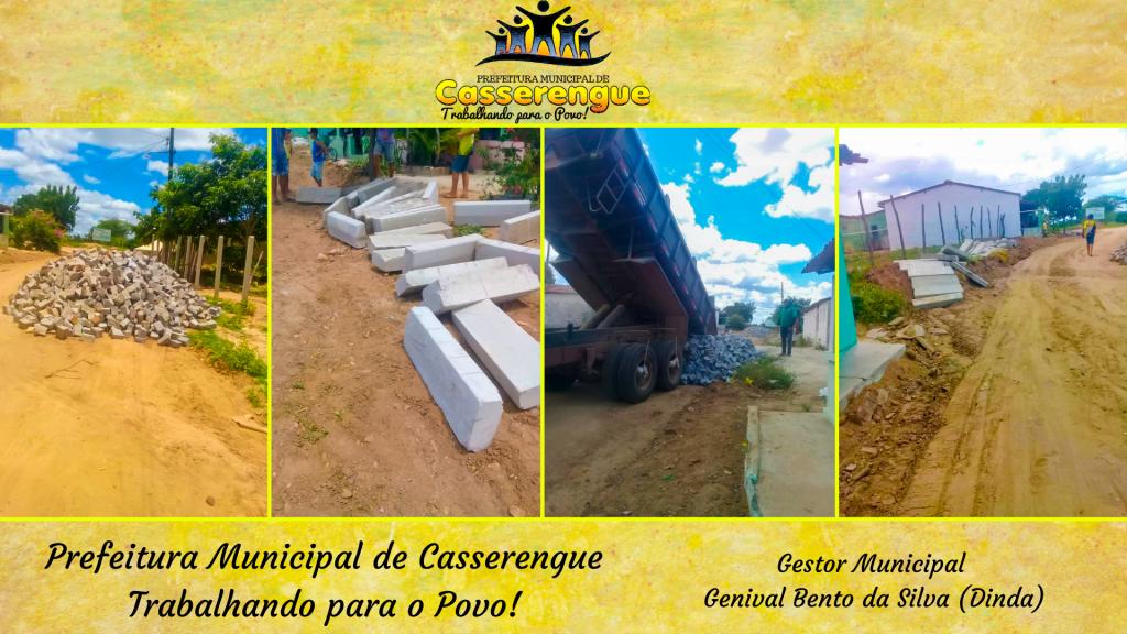 Pavimentação em andamento na Comunidade de Cinco Lagoas
