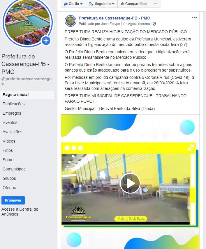 PREFEITURA REALIZA HIGIENIZAÇÃO DO MERCADO PÚBLICO