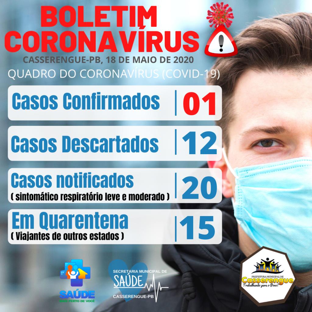 Boletim Epidemiológico, 18/05/2020 - Casserengue-PB
