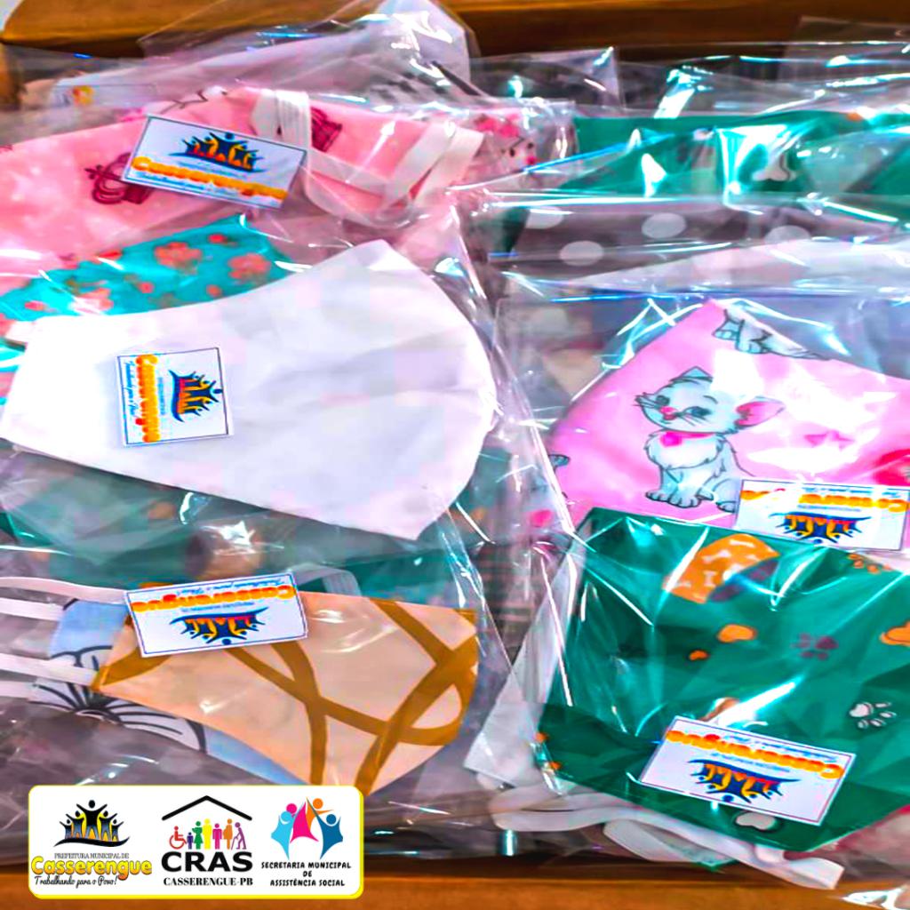 Em parceria com a Prefeitura, assistência social prepara doações de kits com álcool gel e máscaras