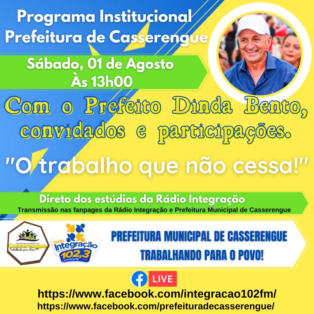 PROGRAMA INSTITUCIONAL DA PREFEITURA DE CASSERENGUE