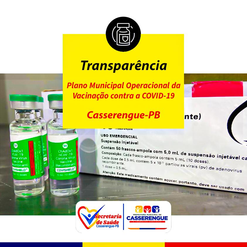 Transparência Plano Municipal Operacional de Vacinação Contra a Covid-19