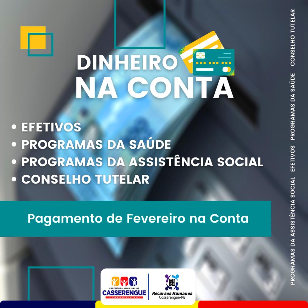 DINHEIRO NA CONTA