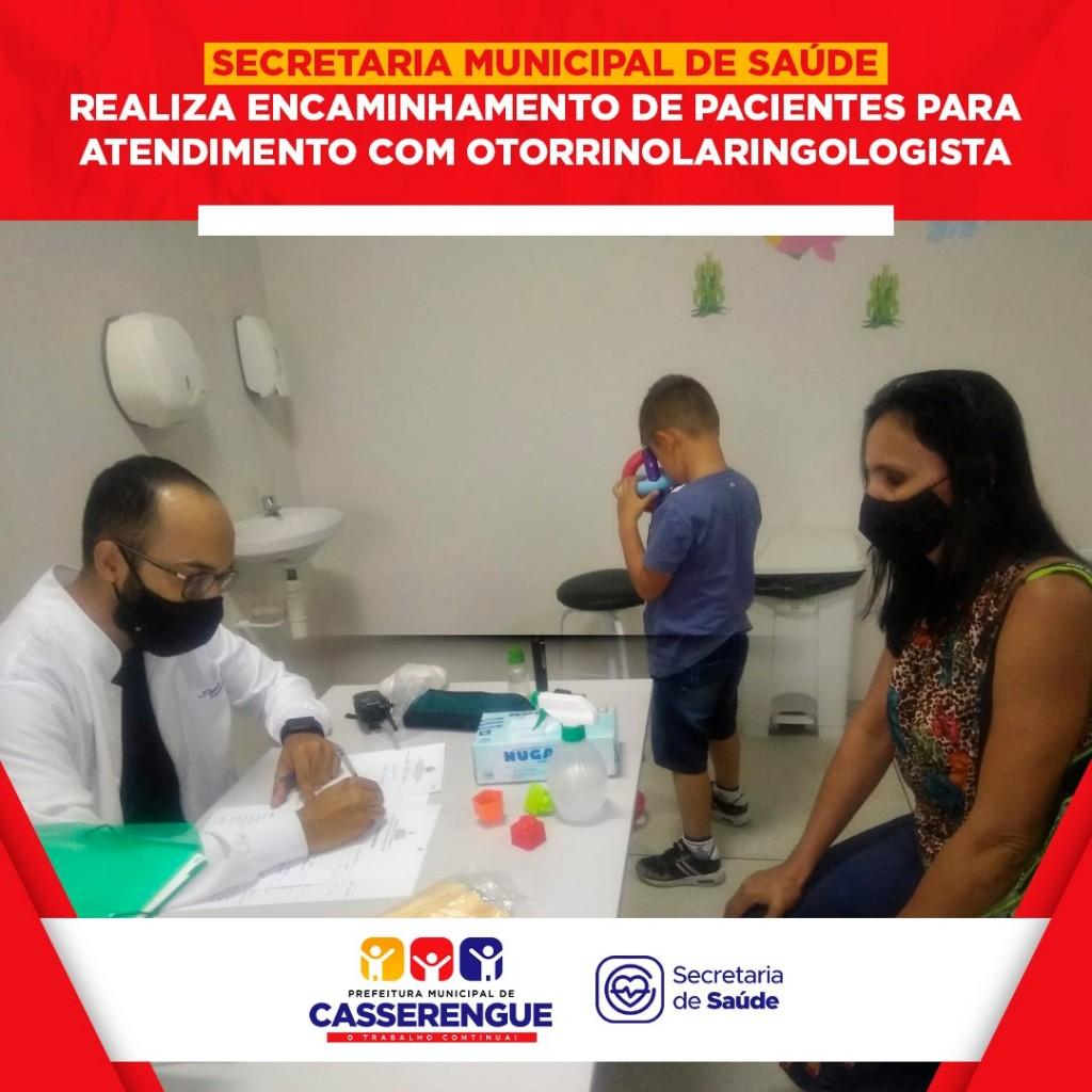 ATENDIMENTO DE PACIENTES COM OTORRINOLARINGOLOGISTA