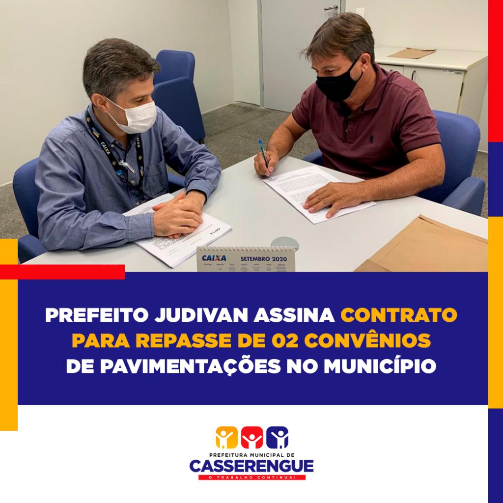 CONTRATO DE REPASSE DE CONVÊNIOS FEDERAIS ASSINADOS