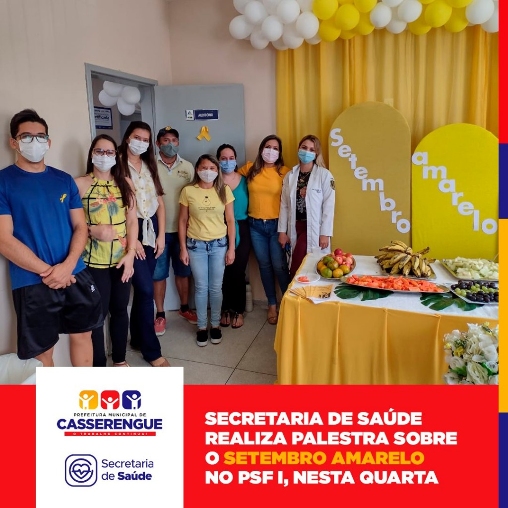 SETEMBRO AMARELO: PALESTRA EDUCATIVA NO PSF1