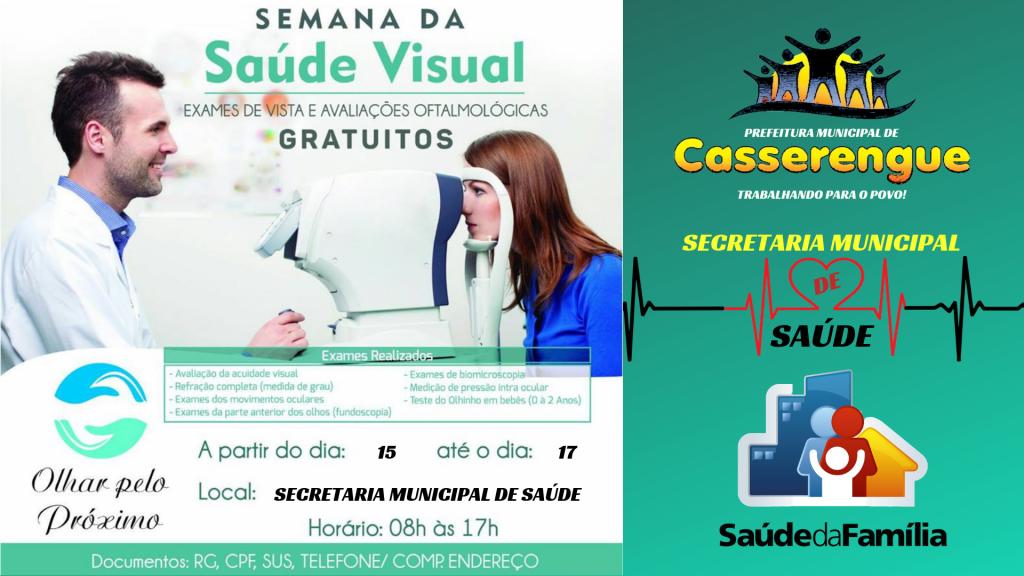 Prefeitura Municipal e Secretaria de Saúde promove mais uma vez a vinda da ONG OLHAR PELO PRÓXIMO