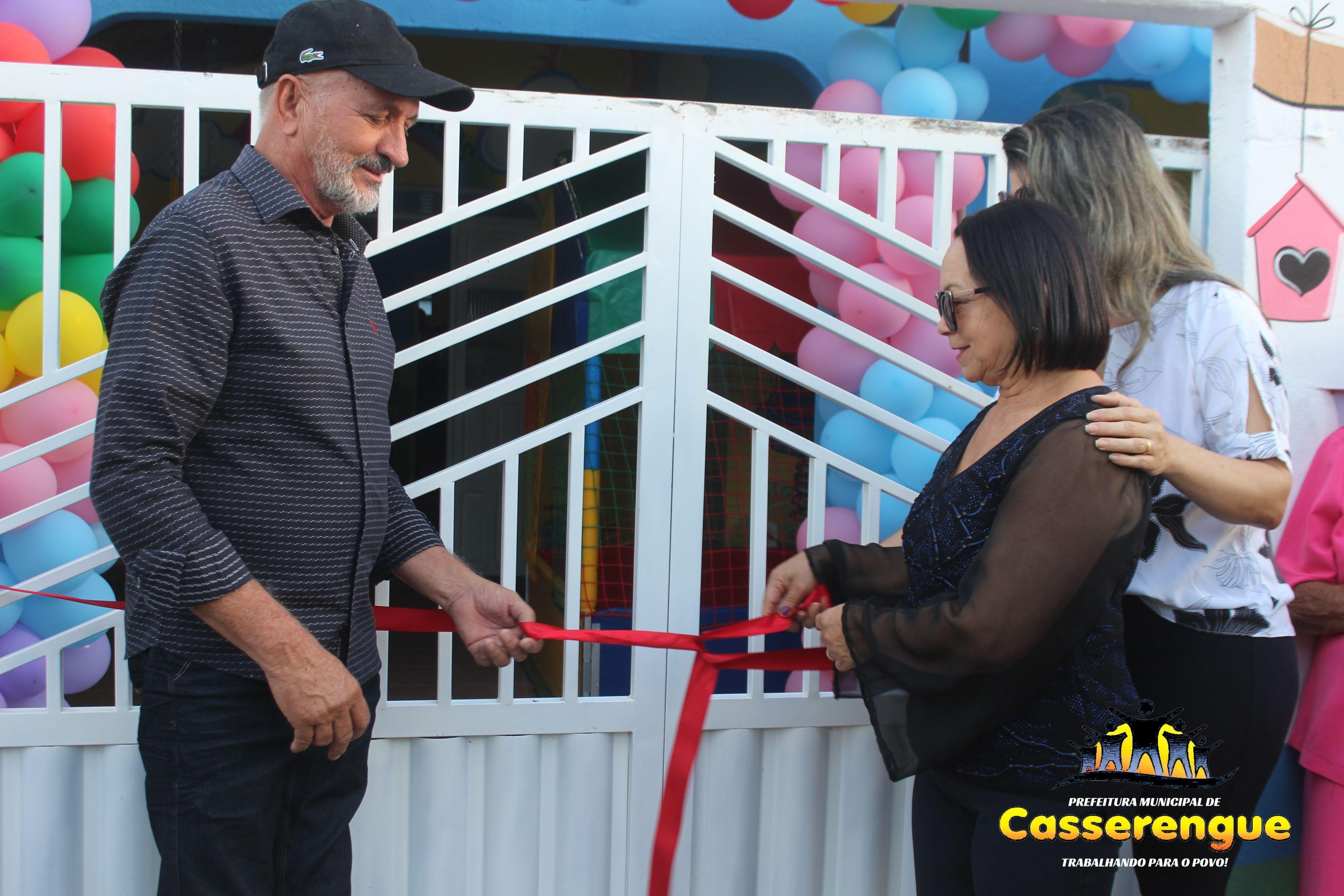 Inauguração histórica da primeira Creche Municipal de Casserengue
