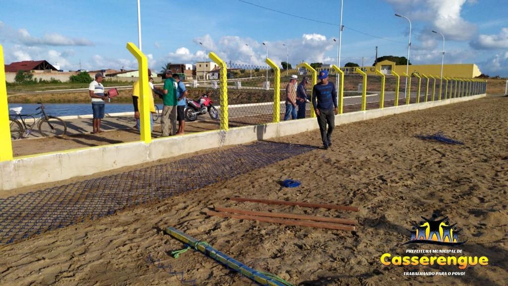 Instalação da Rede do Alambrado do Estádio Municipal de Futebol