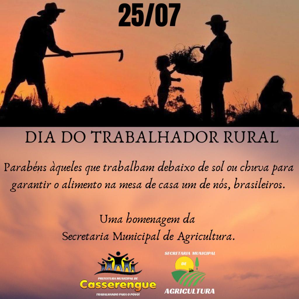 Uma homenagem da Prefeitura Municipal e Secretaria de Agricultura