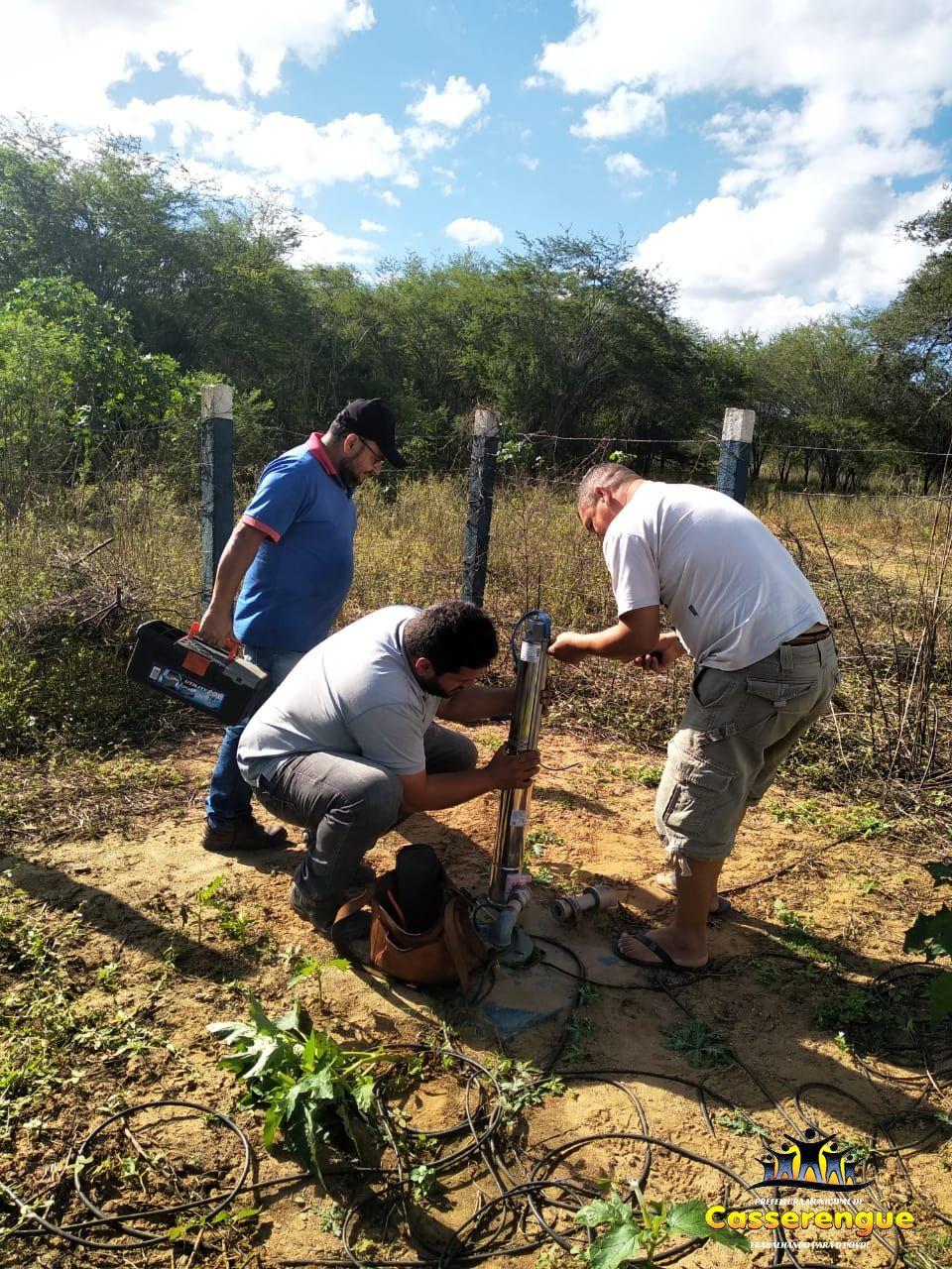 Instalação de bomba para Poço Artesiano