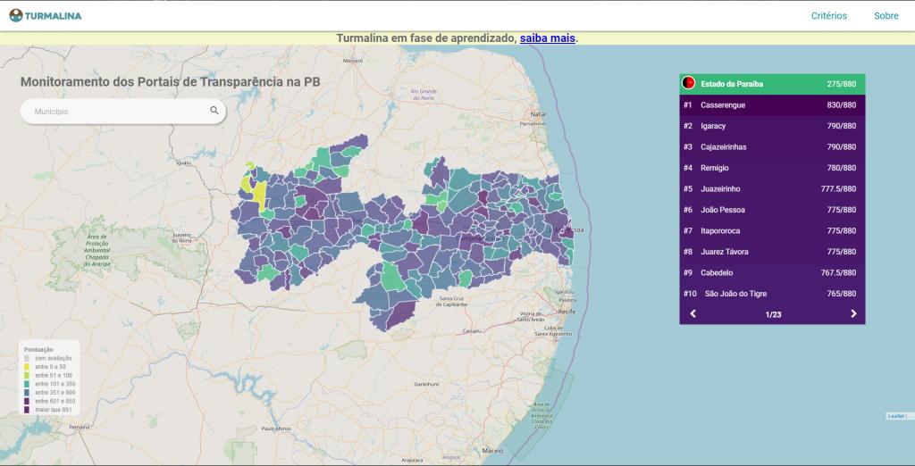 Casserengue é a cidade mais transparente da PB
