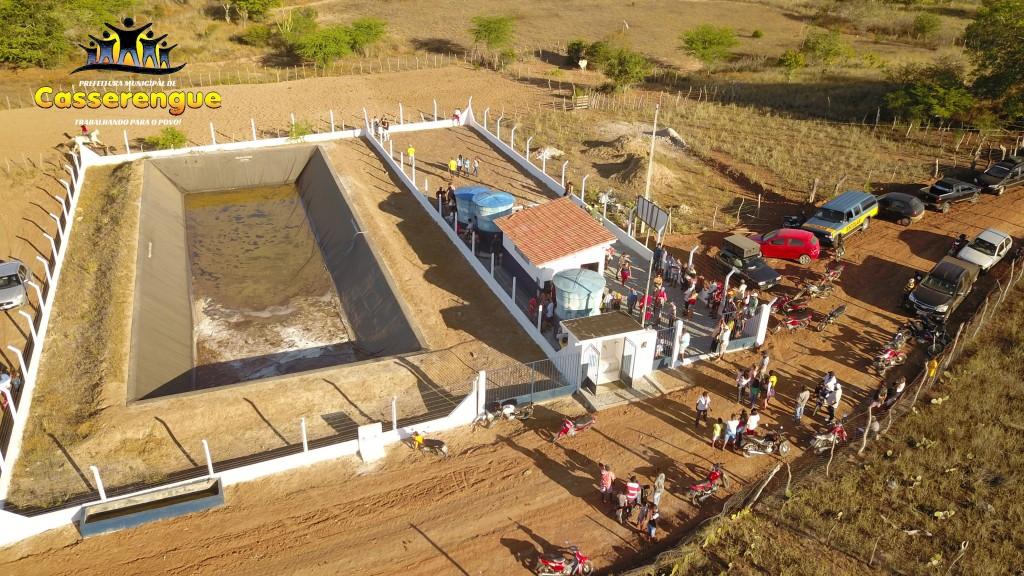 Prefeito Dinda Bento entrega Poço Artesiano e inaugura Sistema de Dessalinização da água na comunidade de Santa Paula